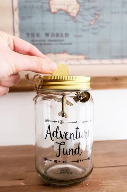 Quotes Travel Adventure Money 15 Ideas Money Jars Money Saving Jar Money Box Diy