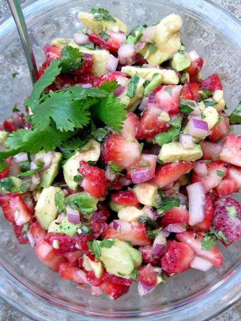 strawberry-avocado salsa... say no more.