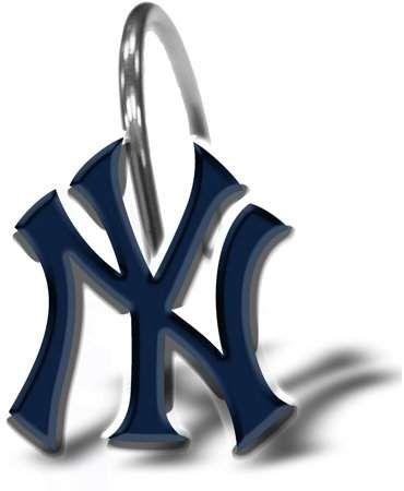 Sports Outdoors New York Yankees Shower Curtain Hooks Shower