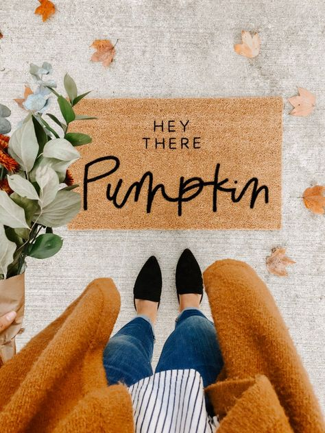Give Fall a warm welcome with this seasonal door mat.