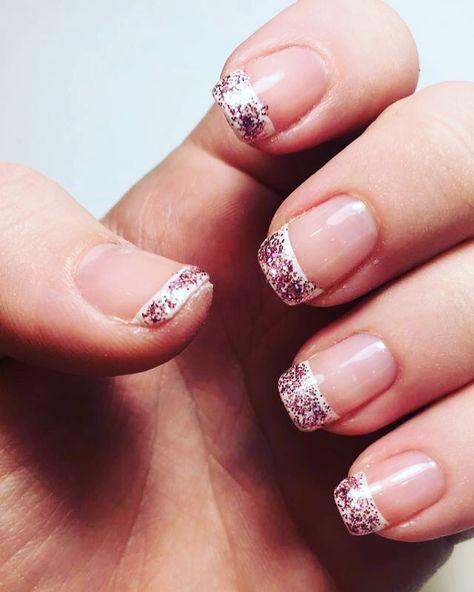 glitter #nails #glitter #pink...