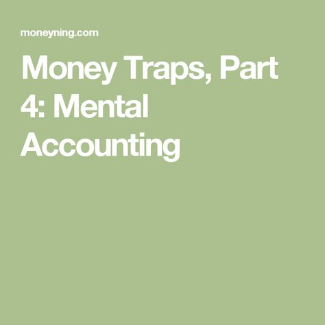5 Mental Money Traps to Avoid for a Solid Financial Future