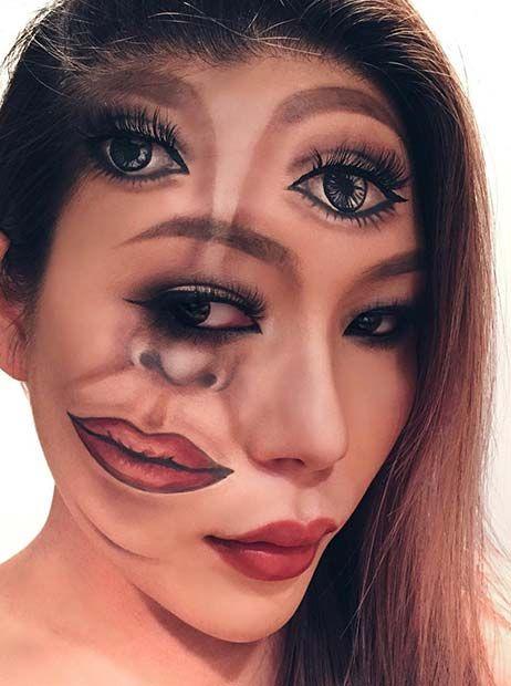 23 Trippy Illusion Makeup Looks For Halloween Makeup Makeup Looks Makeup Tips