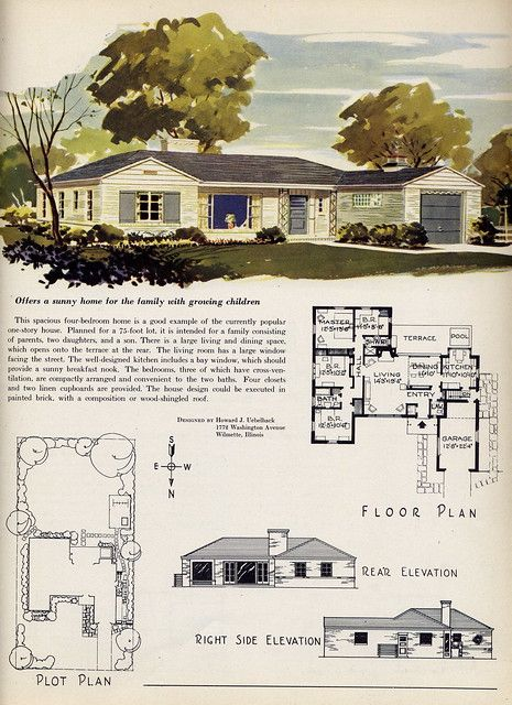 Offers A Sunny Home House Plans With Pictures Little House Plans Vintage House Plans