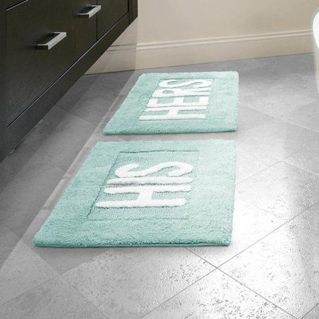 Home Rugs Bath Mat Sets His Hers Sinks