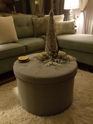 Pleasing Inspire Me Home Decor 24Round Tufted Collapsible Storage Alphanode Cool Chair Designs And Ideas Alphanodeonline