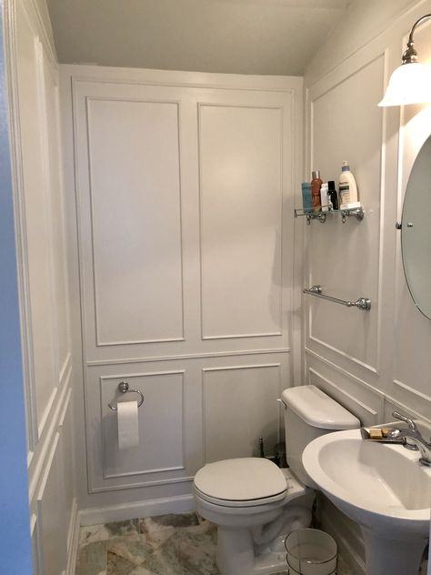 Smallbathroom Walltrim Mold In Bathroom Small Bathroom Makeover Wall Molding Bathroom