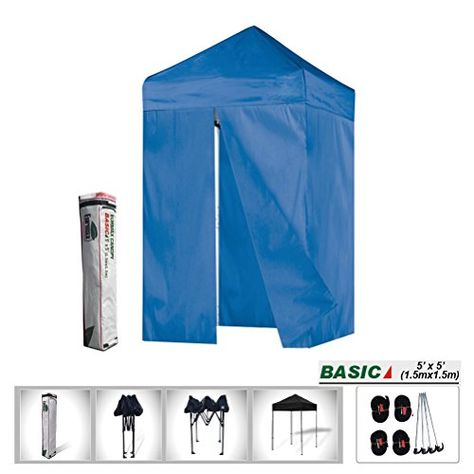 5x5 Ez Pop Up Canopy Instant Outdoor Tent Photo Booth4 Zipper End Side Walls Deluxe Carry Bag Blue Find Ou Outdoor Photo Booths Tent Best Tents For Camping