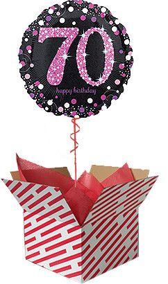 Pink Celebration 70th Birthday Balloon Gift