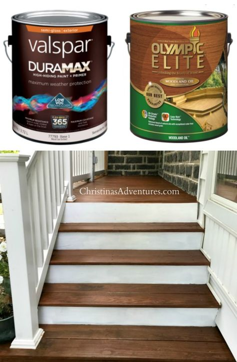 How To Refinish A Porch Deck Stain Colors Staining Deck Exterior Stain Colors