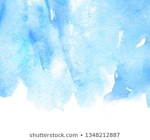 Blue Color Watercolor Paper Texture Liquid Stroke Vector