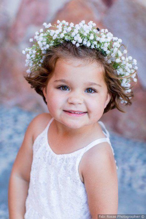 Flower Girl Attire Baby S Breath Floral Crown Wedding Attire For Kids Fabi Rosas Photogr Floral Crown Wedding Flower Girl Wreaths Baby Breath Flower Crown