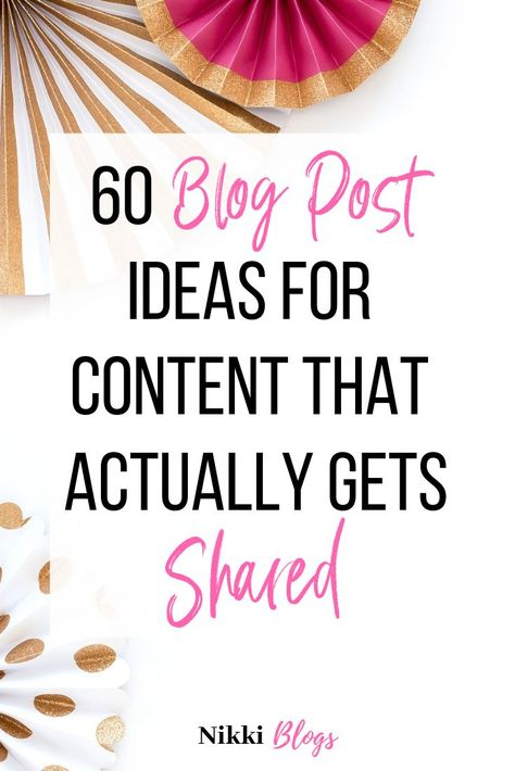 60 Blog Post Ideas for Beginners to Get Blog Traffic