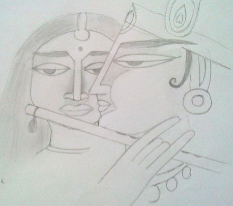 radha krishna pencil sketches kishna pinterest krishna paintings and radhe krishna