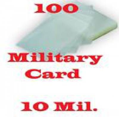 10 Mil Military Card 100 Pk Laminating Laminator Pouch Sheets 2 5 8 X 3 7 8 Military Cards American Spirit Cigarettes American Spirit
