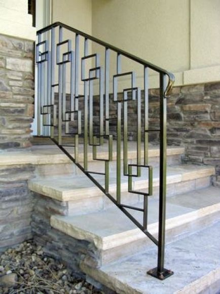 Modern Front Porch Railing 17 Best Ideas About Metal Railings On