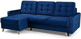 Vegas Futon Sectional Sofa Bed Queen Sleeper With Storage Navy Blue Futon Sofa Futon Sectional Mid Century Modern Sleeper Sofa