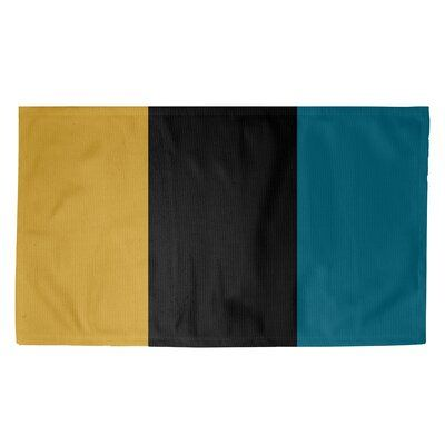 East Urban Home Jacksonville Throwback Football Black Blue Yellow Area Rug Black And Cream Bedroom Blue And Yellow Living Room Yellow Area Rugs