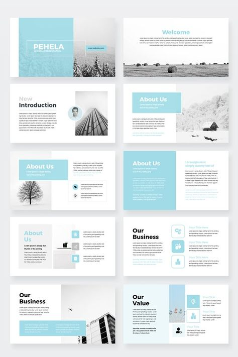 Clean Minimal Business Google Slides Presentation Template