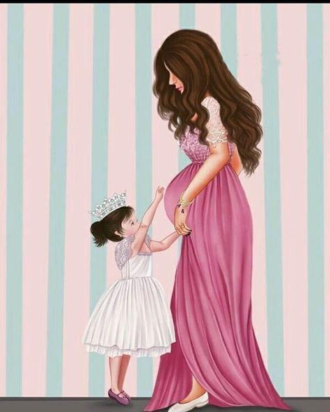 Kina Gecesi Mother Art Mother And Daughter Drawing Mom Art