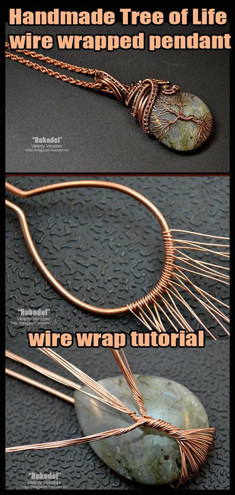 Tree of Life wire wrapped pendant - wire wrap tutorial. - Handmade Tree of Life wire wrapped pendant – wire wrap tutorial. -Handmade Tree of Life wire wrapped pendant - wire wrap tutorial. - Handmade Tree of Life wire wrapped pendant – wire wr. Bijoux Wire Wrap, Wire Wrapped Bracelet, Bijoux Diy, Wire Wrapped Pendant, Wire Bracelets, Wire Wrapped Rings, Wire Wrapping Tools, Wire Wrapping Tutorial, Wire Wrapping Crystals