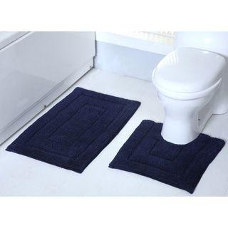 Avani 2 Piece Cotton Bath Rug Set Bath Mat Sets Bath Rugs Sets