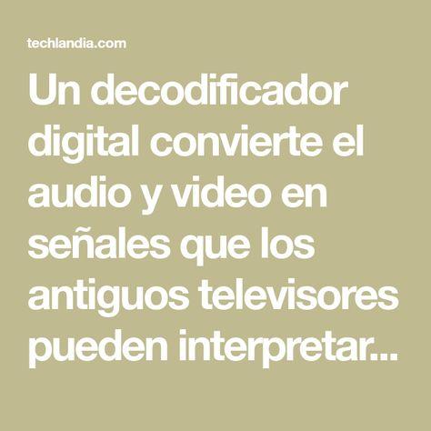 13 Ideas De Como Conectar Decodificador Digital Con Antena Par Antenas Para Tv Antena De Televisión Jugos Para Bajar De Peso