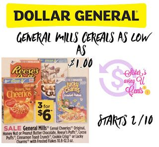 Sisterssavingucents General Mills Cereals As Low As 1 At Dollar