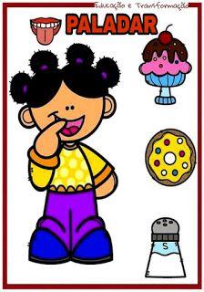 Atividades Para O Ensino Infantil Cards Os Cinco Sentidos Corpo