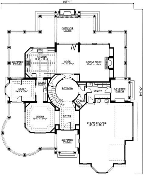 Plan 23393jd Outstanding Shingle Style Home Plan Shingle Style Homes House Plans Architectural Floor Plans