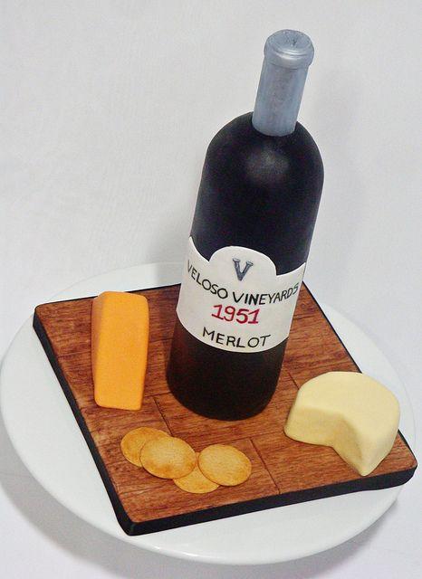 Wine Cheese Cake By Love Sugar Bakeshop Via Flickr