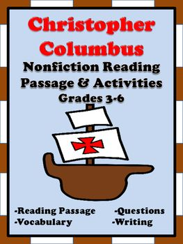Christopher Columbus Reading Passage And Activities Reading Passages Nonfiction Reading Passages Reading Comprehension Passages