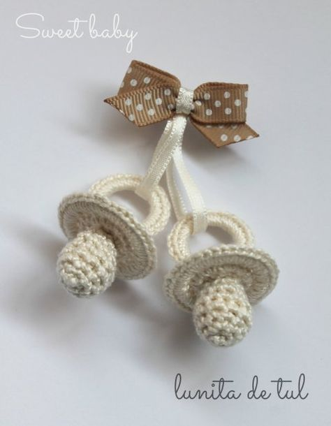 siwetg Vintage Simple Ganchillo Chupete Clip Beb/é Algod/ón Borla Chupete Cadena para Reci/én Nacido Dentici/ón Chupete Masticar Juguete Mu/ñeco Clips