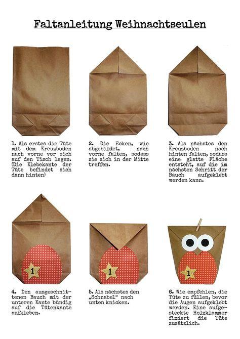 Amazon.de: DIY Adventskalender Set zum Basteln - Weihnachtseulen - Eulen Weihnachten - zum Befüllen