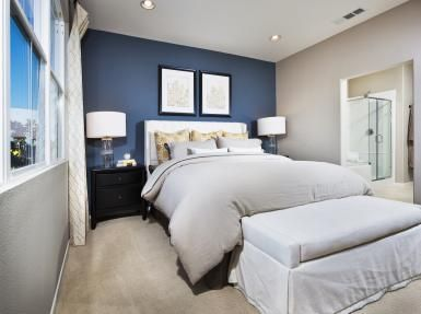 accent walls for bedrooms. 25 Beautiful Bedrooms With Accent Walls | Blue Walls, Greyish And Master Bedroom For