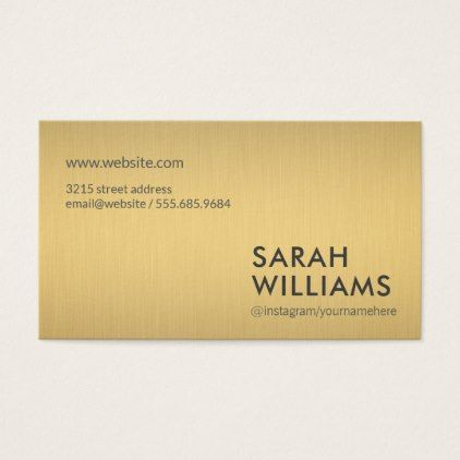 Simple Professional Gold Metallic Business Card Classic Gifts Gift Ideas Diy Custo Business Card Minimalist Printing Business Cards Minimalist Business Cards