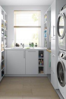 Hauswirtschaftsraum Mobel Ideen Zum Einrichten In 2020 Hauswirtschaftsraum Haus Waschkuchendesign