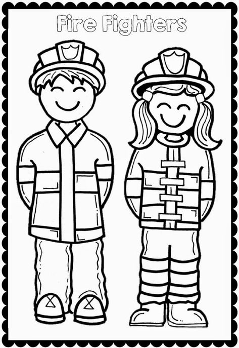 Fire Safety Week with Sparky the Fire Dog - firefighter coloring sheets Fire Safety Crafts, Fire Safety Week, Preschool Fire Safety, Sparky The Fire Dog, Fire Prevention Week, Community Helpers Preschool, Coloring Pages, Coloring Sheets, Firefighters