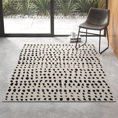 Polka Dots Handmade Tufted Wool Ivory Black Area Rug Joss Main Black Area Rugs Area Rug Decor Area Rugs
