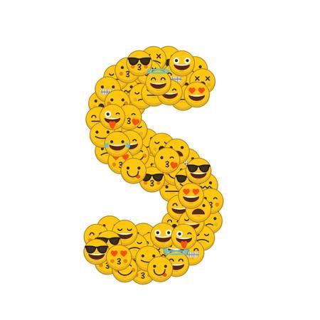 Buchstabe Letter S Disney Alphabet Emoji Love Smiley Emoji