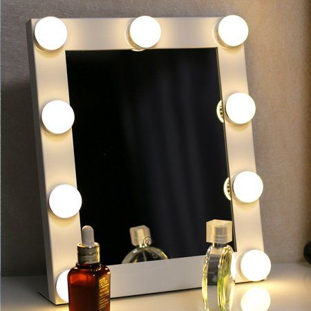 Luckyfine Hollywood Led Vanity Mirror With Light Plug In Tabletops Lighted Mirror With Dim Mirror With Lights Makeup Mirror With Lights Hollywood Makeup Mirror