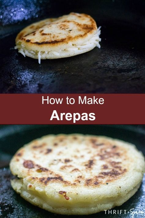 are super popular in Colombian and Venezuela. They are easy to make and can be eaten at any meal of the day.Arepas are super popular in Colombian and Venezuela. They are easy to make and can be eaten at any meal of the day. Latin American Food, Latin Food, Mexican Food Recipes, Vegetarian Recipes, Cooking Recipes, Gorditas Recipe Mexican, Vegetarian Diets, Columbian Recipes, Colombian Food