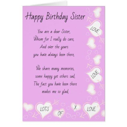 Sister Birthday Card Birthday Gifts Giftideas Present Party
