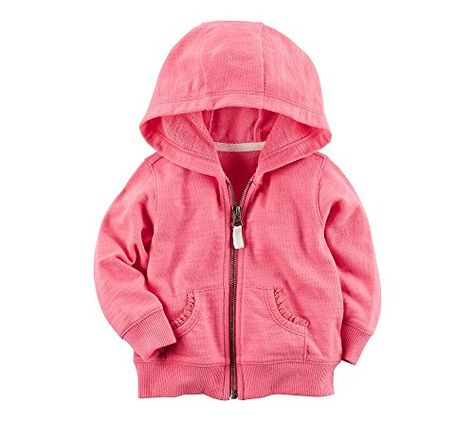 Carters Baby Girls Lace Accented Hoodie