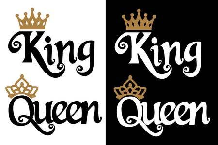 King And Queen Couple Design Black Text And Gold Crown Isolated Imagenes De Coronas Coronas Para Hombre Disenos De Tatuaje De Nombres