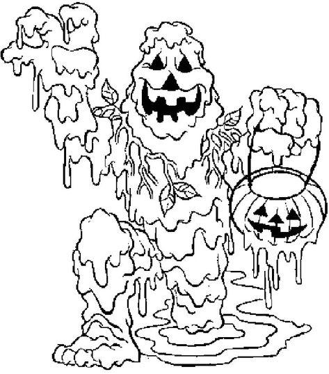 Coloriage Halloween A Imprimer Qui Fait Tres Peur Dessinqui