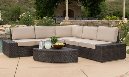 Bodega Outdoor Wicker Sofa Set With Images Wicker Sofa Outdoor Outdoor Wicker Wicker Sofa