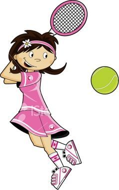 Tennis Racket Clipart Pink Girl Tennis Tennis Doubles Tennis Art
