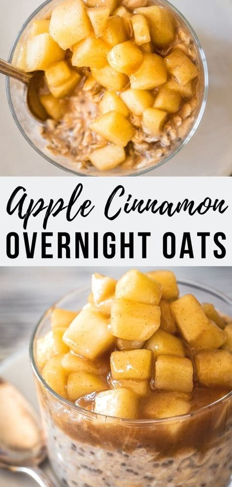Apple Cinnamon Overnight Oats (Vegan) | Le Petit Eats