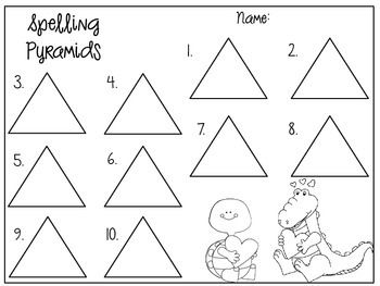 Pyramid Spelling Templates For The Whole Year